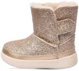 UGG Keelan Glittered Shearling Boots
