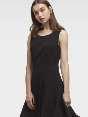 Donna Karan Donnakaran Sleeveless Dress With Full Skirt
