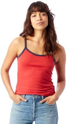 Alternative Apparel Ringer Vintage Jersey Cami Tank Top-Red