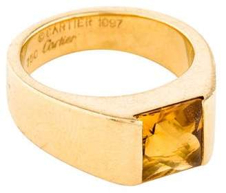 Cartier Citrine Tank Ring