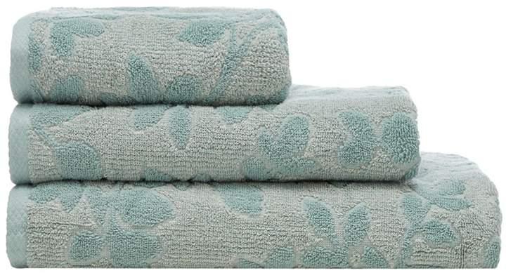 Aqua 'Cambridge' Leaf Print Towel