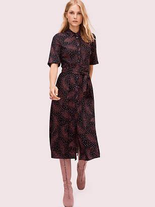 Kate Spade Meadow Smocked Back Shirtdress, Black - Size 0