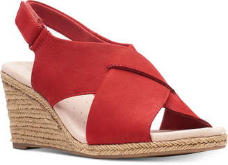 72fa35f5e48 Clarks Collection Women Lafely Alaine Wedge Sandals