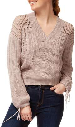 Dex Perforated V-Neck Sweater