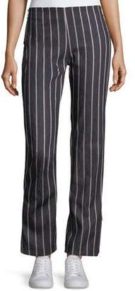 Maggie Marilyn Loyal Companion Slim Straight-Leg Striped Denim Pants