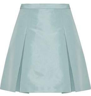 RED Valentino Pleated Satin-Faille Mini Skirt
