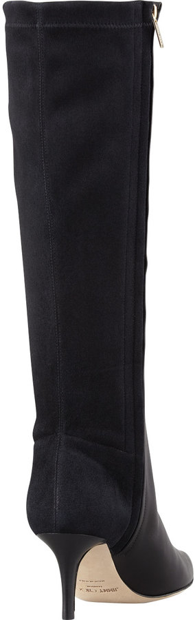 Jimmy Choo Adent Fitted Knee Boot, Black