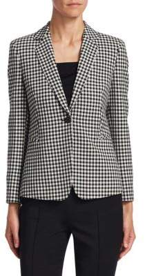 Akris Punto Gingham Plaid Jacket