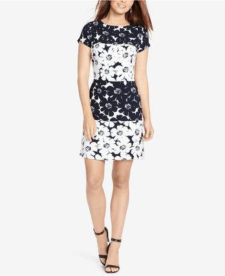 American Living Floral-Print Crepe Dress $79 thestylecure.com