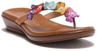 Italian Shoemakers Emina Floral Flip Flop