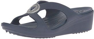 crocs Women's Sanrah Beaded Wedge Sandal $21.60 thestylecure.com