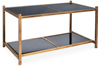 One Kings Lane Luton Tiered Coffee Table - Brass