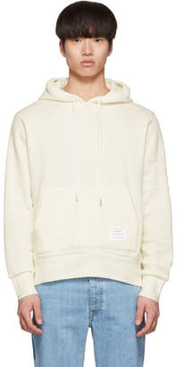 Thom Browne Off-White Chunky Honeycomb Pique 4-Bar Hoodie
