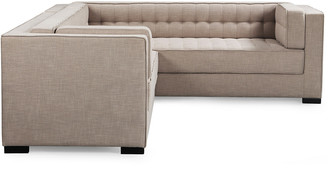 Chic Home Lorenzo Sand Linen Textured Right Sectional