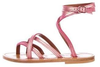 K Jacques St Tropez Zenobie Metallic Sandal w/ Tags
