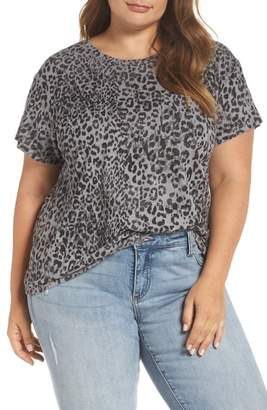 Lucky Brand Leopard Pocket Tee