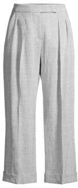 Max Mara Dax Plaid Wool Cropped Pants