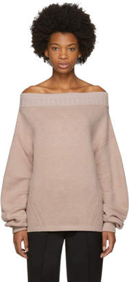 Opening Ceremony Pink Wool Off-the-Shoulder Sweater