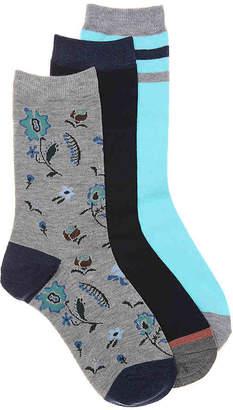 Lucky Brand Floral Crew Socks - 3 Pack - Women's