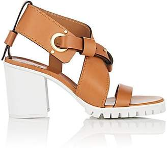 Chloé Women's Scottie Leather Sandals - Beige, Tan