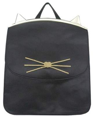 T-Shirt & Jeans Cat Ears Frame Foldover Small Backpack