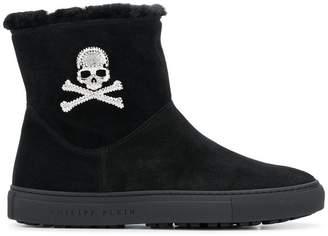 Philipp Plein fur ankle boots