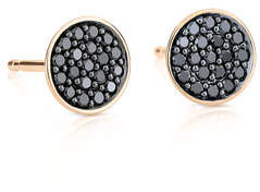 ginette_ny 18k Rose Gold Black Diamond Stud Earrings