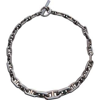 Hermes Vintage Chaine d'Ancre Silver Silver Necklace