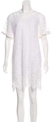 Frame Short Sleeve Floral Lace Dress