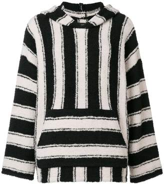Amiri striped knitted top