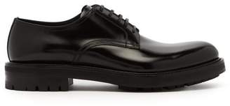 Dolce & Gabbana Lace Up Leather Derby Shoes - Mens - Black