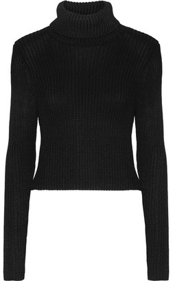 Alice + Olivia - Sierra Ribbed Stretch-knit Turtleneck Sweater - Black $275 thestylecure.com