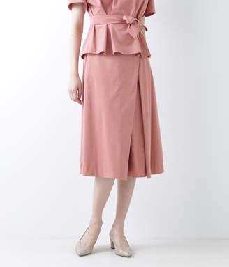 NEWYORKER women's ソフトベロア スカート風ガウチョパンツ