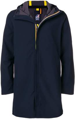 K-Way hooded zipped coat