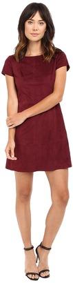 Jessica Simpson Faux Suede T-Shirt Dress $98 thestylecure.com