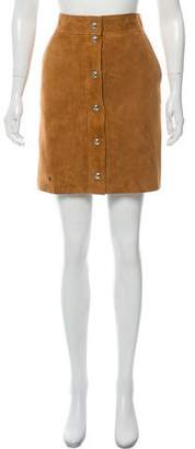Emilio Pucci Suede Mini Skirt