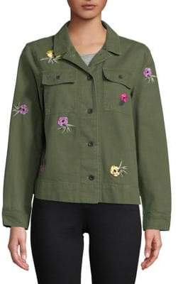 Buffalo David Bitton Haley Embroidered Cotton Jacket