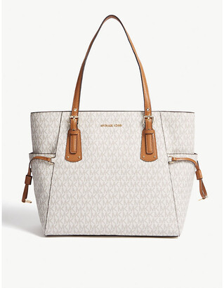 3c5a962920d4 MICHAEL Michael Kors Voyager small coated canvas tote