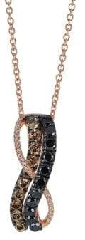 LeVian 14K Strawberry Gold Blackberry Diamonds Chocolate Diamonds & Vanilla Diamonds Exotics Pendant Necklace