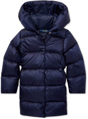 Polo Ralph Lauren Toddler Girls Quilted Hooded Down Jacket
