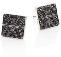 John Hardy Modern Chain Black Sapphire& Sterling Silver Stud Earrings