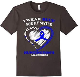 Huntington Disease Shirt - I Wear Blue For My Sister