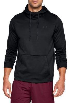 Under Armour Logo Rib-Trimmed Hoodie