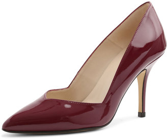 Andre Assous Steph Patent Pointed-Toe Pump, Burgundy $119 thestylecure.com