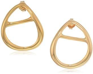 Halston H Sculptural Links Women's Open Oval Stud Earring