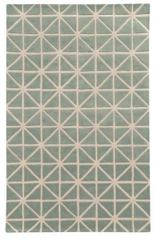 PantonePantone Optic Wool Area Rug - Green/Gray (5'x8')