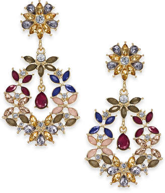 INC International Concepts I.n.c. Gold-Tone Multi-Stone Drop Earrings, Created for Macy's