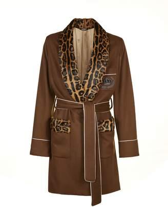 Dolce & Gabbana Leopard Print Cardi-coat