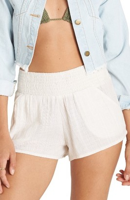 Women's Billabong Waves For Days Smocked Shorts $34.95 thestylecure.com