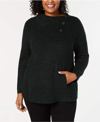 Style&Co. Style & Co Plus Size Envelope-Neck Sweater